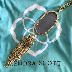 Kendra Scott Rayne Necklace-Slate Catseye